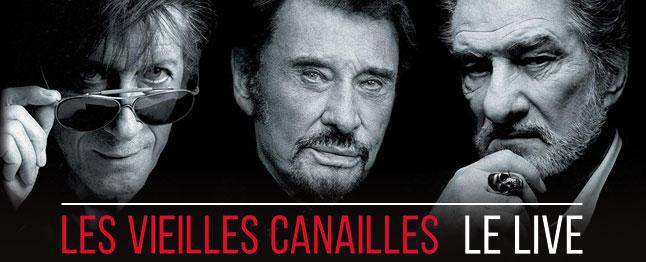Jacques Dutronc, Johnny Hallyday & Eddy Mitchell - Les vieilles canailles : le live